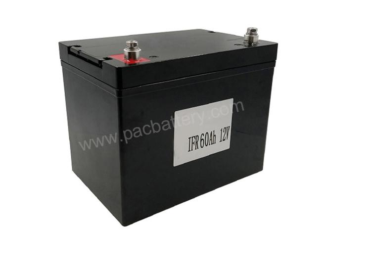 Les accumulateurs au lithium battery12v LiFePO4 55Ah 60Ah pour voiturette de golf électrique, parcomètre
