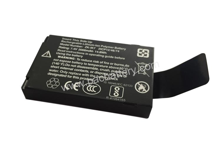 7.4V 2000mAh 14.8Wh Lithium ion battery with plastic casing