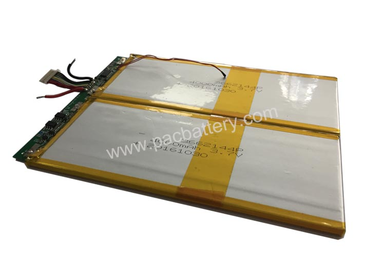 Lithium ion battery for tablet 2S 7.4V 4000mAh 29.6Wh
