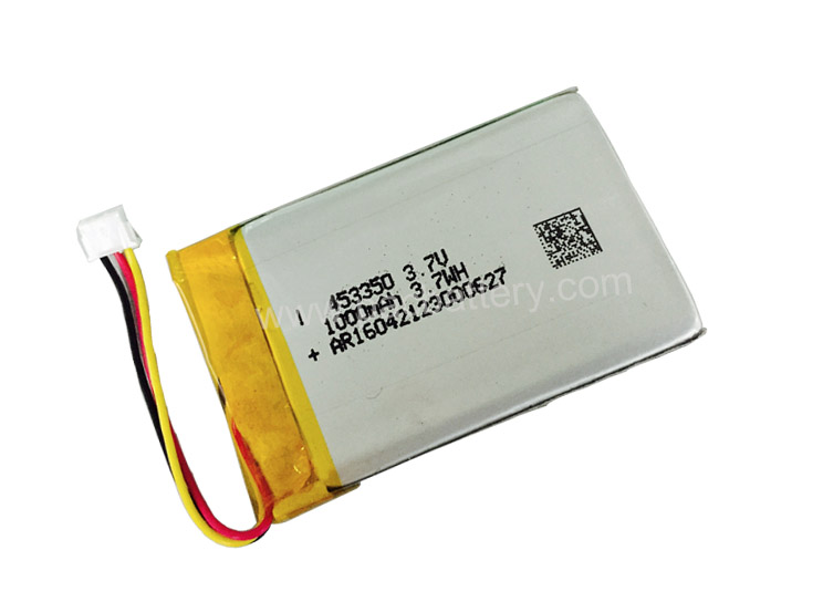 High Density Lipo Battery 453350 3.7V 1000mAh with PCM