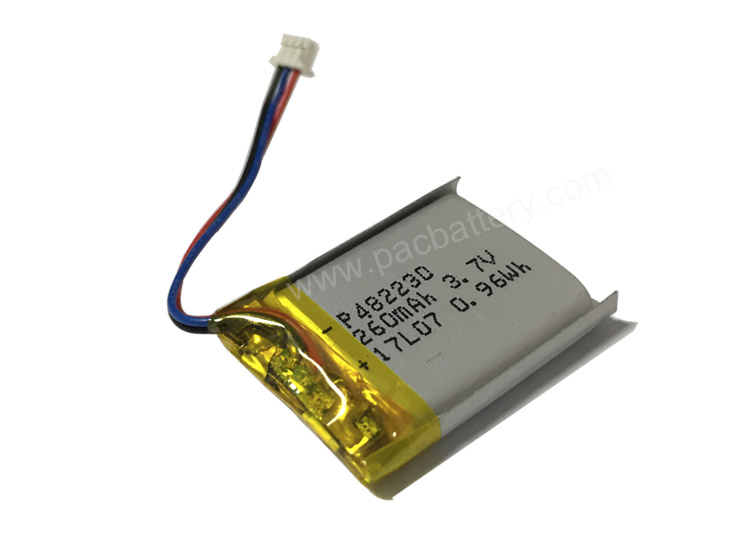 3.7V 482230 260mAh 10C High Rate Discharge Lithium Polymer Battery Pack
