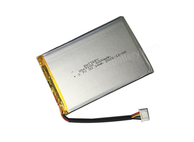 3.7V 8200mah 8569102 Li ion Polymer Battery with CB certificate for medical device