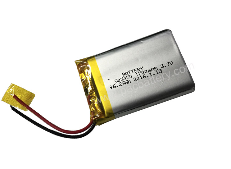 Standard Battery 903450 1700mAh 3.7V li-polymer Battery for GPS Tracker