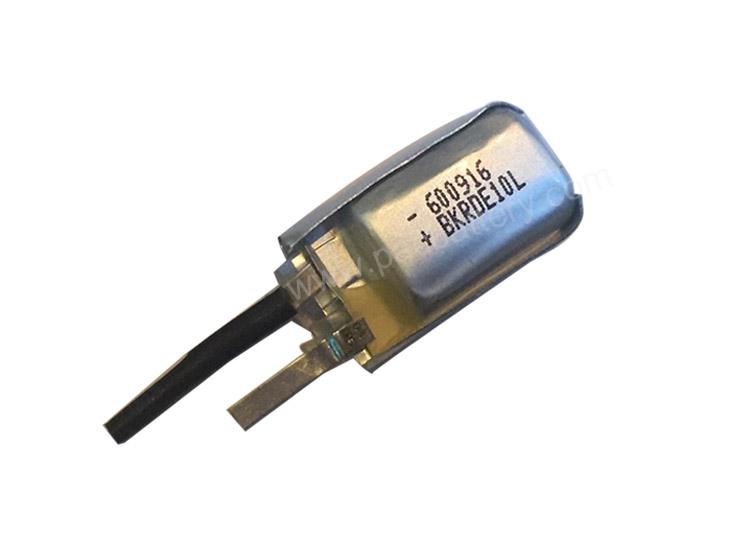Ultra small lithium polymer battery 3.7V 600916 60mAh lipo battery cell