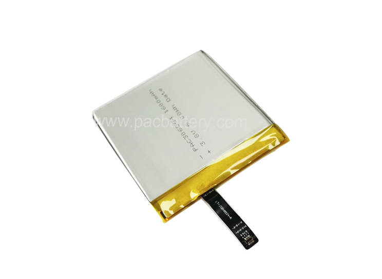 High Energy Density Lipo battery 306564 3.8V 1600mAh for payment terminal
