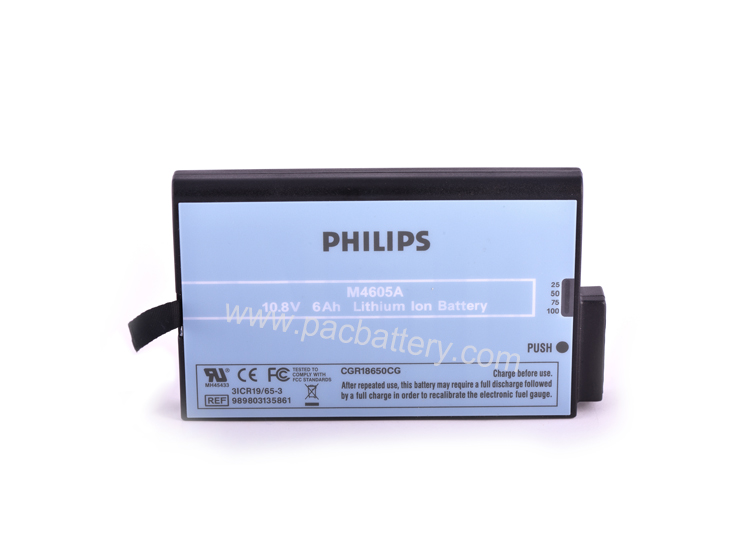 Medical battery M4605A lithium ion cell 10.8V 6Ah