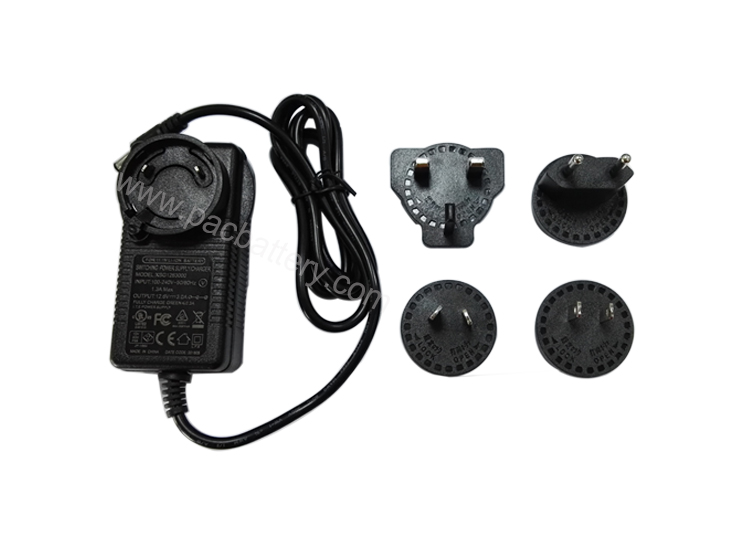Switching power supply 12.6V 3A charger with universal adapter U.K.,US, European, Australian