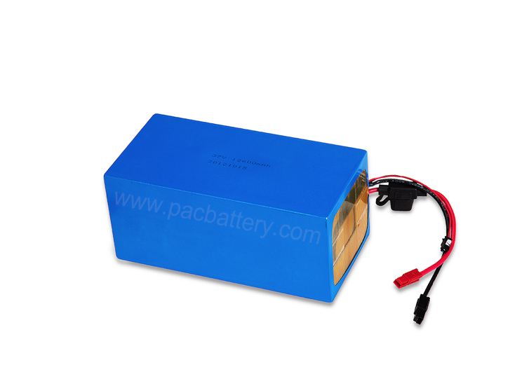 37V lipo battery 12.6Ah OEM pack with fuse for vacuum cleaner