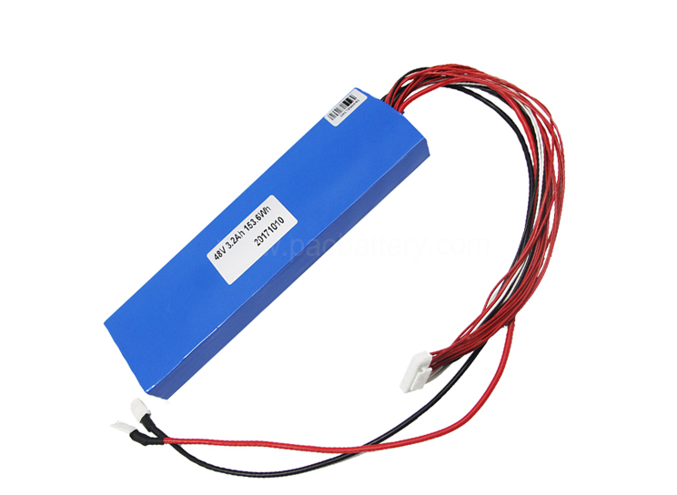 Lithium ion phosphate battery pack 153.6Wh branded cell 15s1p 48v 3.2AH