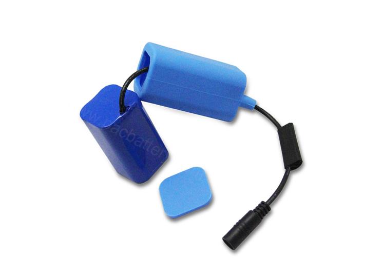 Wasserdichte 7.4V Lithium-Batterie 4400mAh mit Silikonabdeckung für tragbare Sportprodukte
