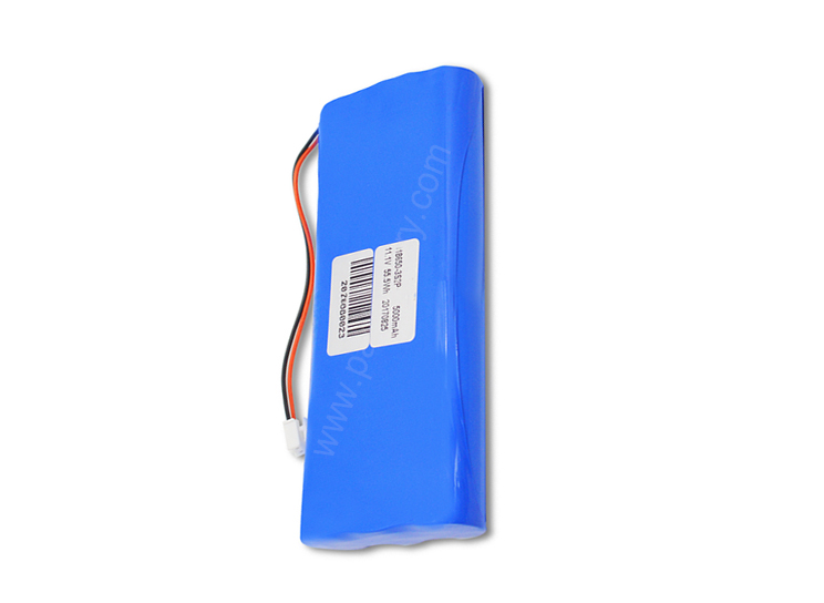 2s3p rechargeable li ion battery pack 7.4v 7500mAh for CCTV monitor