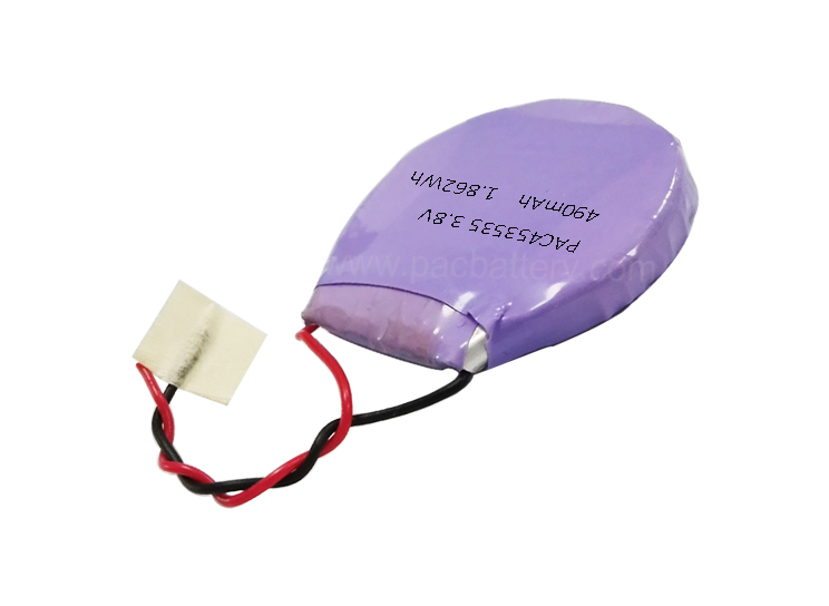 35mm lithium ion battery 453535 3.8v 490mAh round cell for electronic device