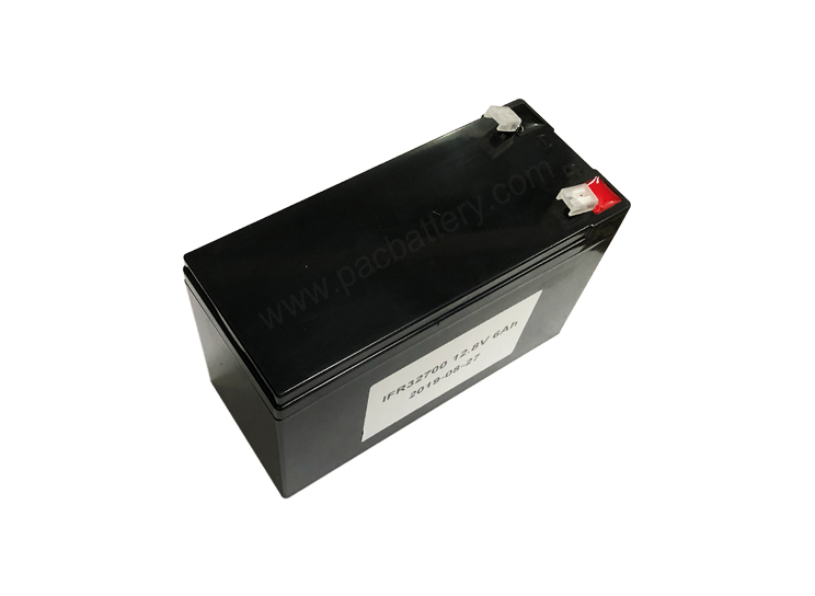 Lithium phosphate de fer (LiFeP04) Batterie LFP12.8V 6AH en utilisant 32700 cellule