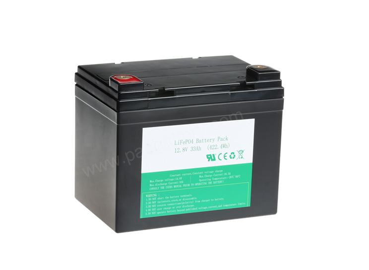 26650 4S10P 12V 33Ah LiFePO4 rechargeable battery for Solar Energy Backup