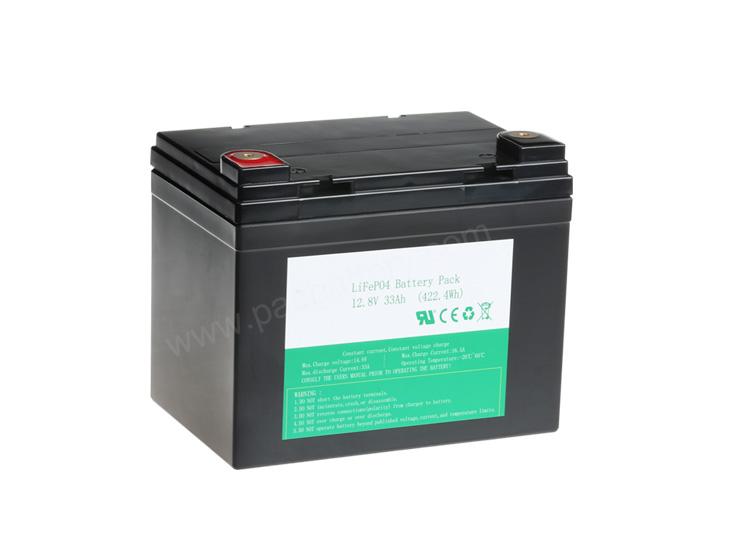 26650 4S10P batería recargable de 12V 33Ah LiFePO4 para la Energía Solar de copia de seguridad