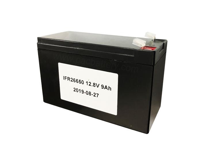 hierro de litio batería fosfato de ciclo profundo 12V 9Ah con el caso para el sistema de copia de seguridad