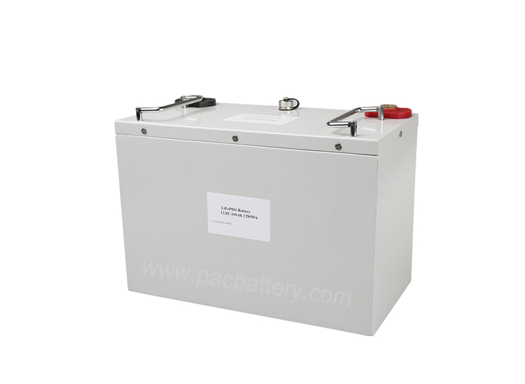 1280Wh lithium ion battery pack 12.8v 100Ah LiFePO4 with metal case