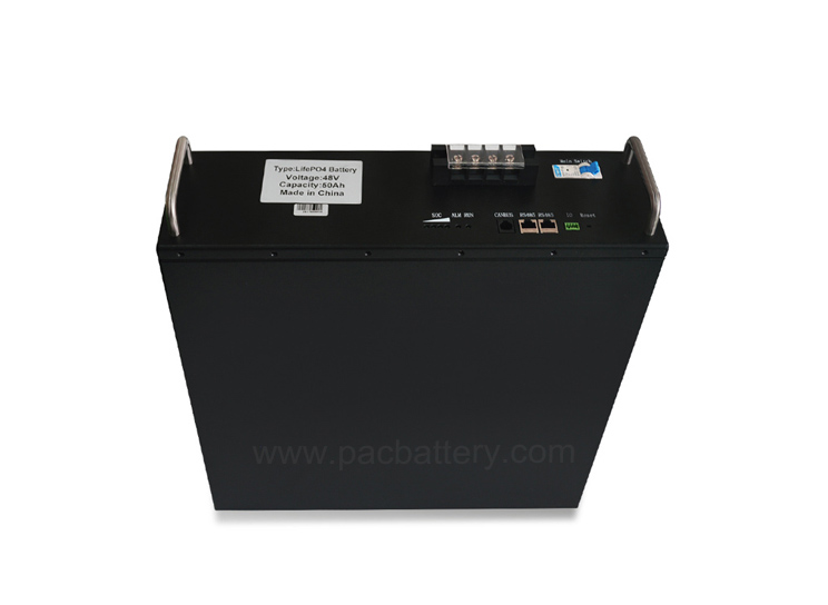 LiFePO4 48V 50Ah Batteriepack RS485 CAN-Bus-Kommunikation für 5G Basisstation