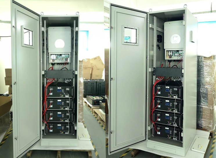 Система солнечных батарей PAC 40kWh 48V 800Ah all-in-one Гибридный инвертор 8kva для использования вне помещений