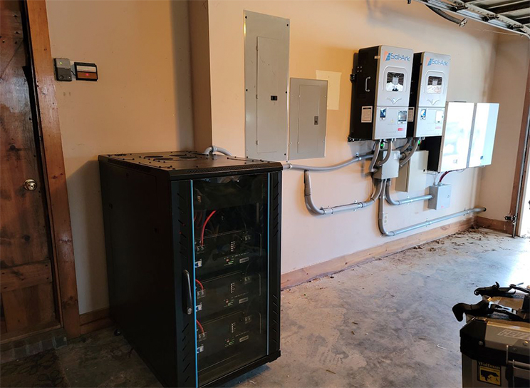 PAC Rack Type 30kwh + Wall-mount type 20kwh Solar Storage Battery Installed in the USA
