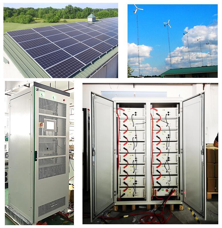 PAC 150 кВт · ч Solar LiFePO4 аккумулятор с солнечными панелями 40 кВт Ветряная мельница мощностью 15 кВт для молочной фермы в Новой Зеландии