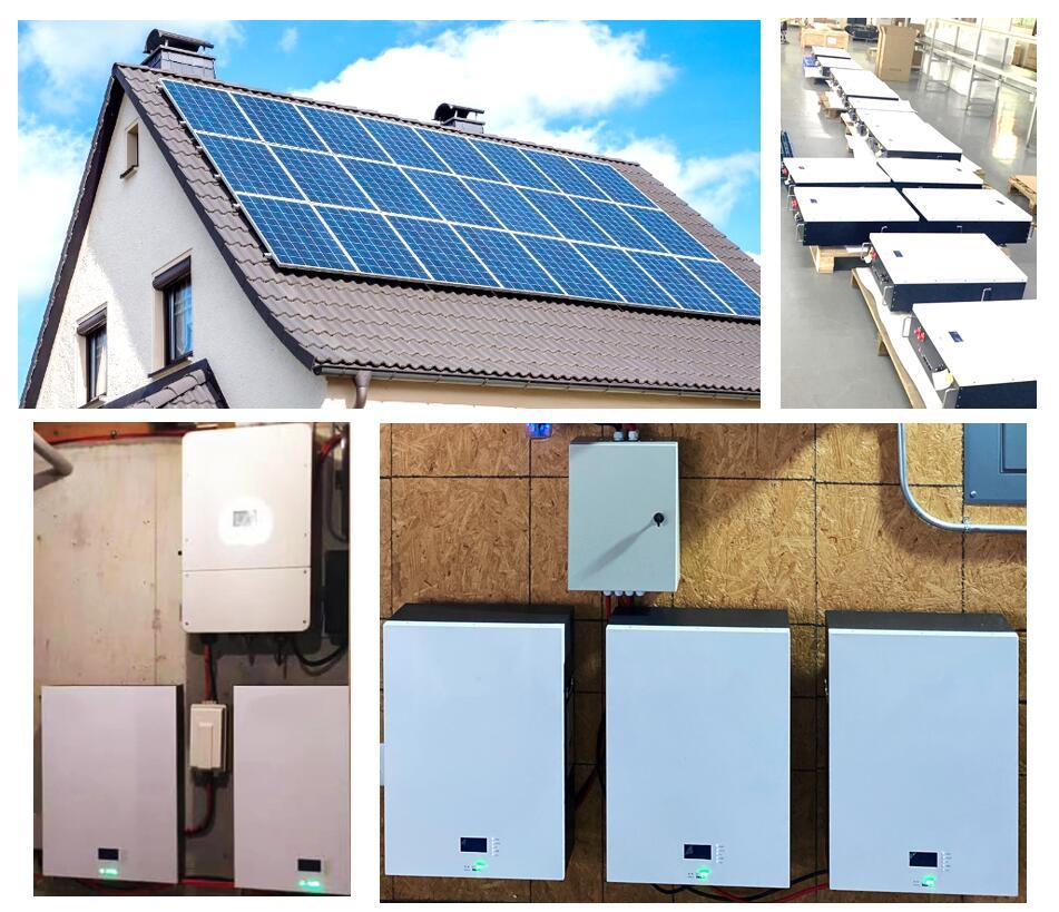 Batterie de stockage solaire PAC 48V 30kwh powerwall + onduleur hybride à phase divisée 8kW pour résidentiel