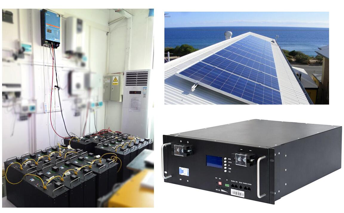 PAC 48V 100kWh Solar lithium batteries rackmount for commercial backup system with Victron inverter