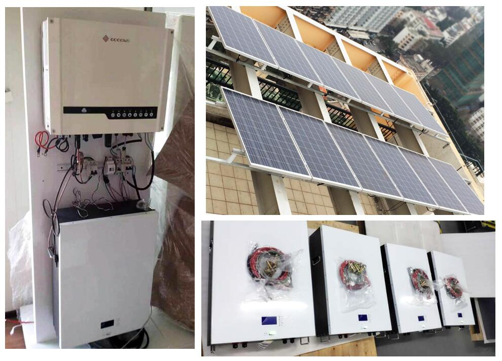 PAC 48V Powerwall home storage battery 10kwh with Goodwe hybrid inverter for residential solar power system in Thailand